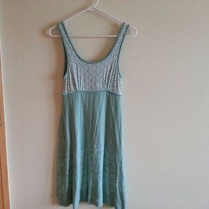 Athleta aqua & beige sleeveless dress - womens sm